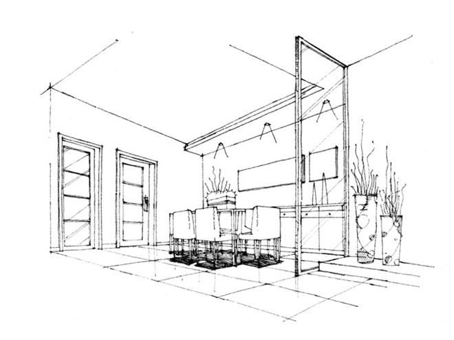 手绘(黑白稿)-陈小科的设计师家园:::大胃圆-中国建筑