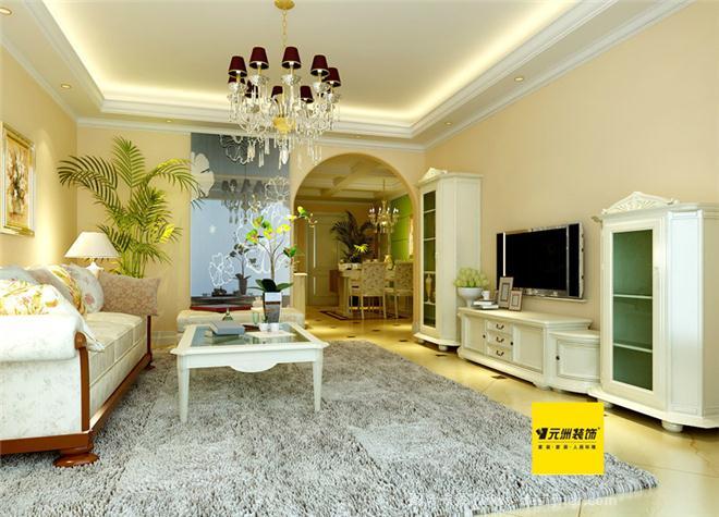 现代欧式风格效果图-北京元洲装饰有限责任公司的设计师家园-现代欧式,卧室,餐厅,玄关,客厅,三居