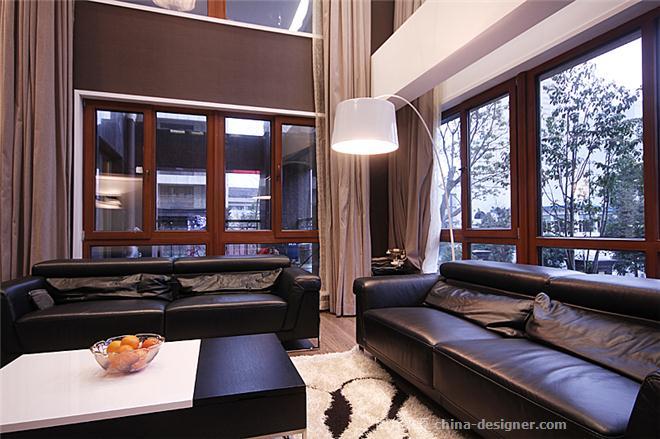 温州华府天地住宅设计-宋毅的设计师家园-现代简约,跃层