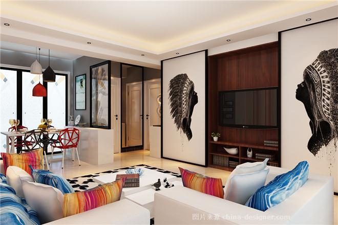 山东  烟台   设计方案-孔令军的设计师家园-后现代主义,现代简约,餐厅,卧室,视听间,二居