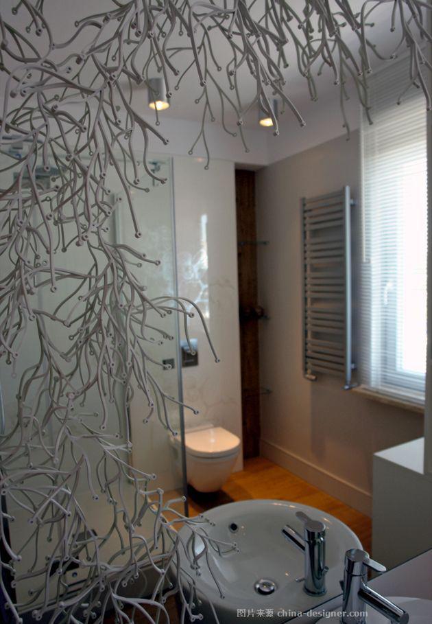"""北京西城---现代-孔令军的设计师家园-卫生间(原为""""卫浴""""),花园,衣帽间"""