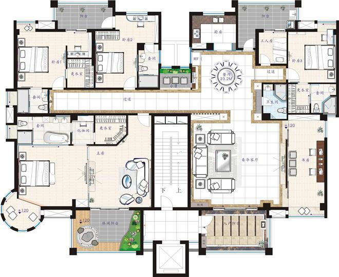 澄海中信华府王宅-吴淼昌的设计师家园-和风日式,,四居及以上
