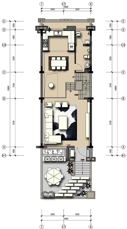 合肥领墅湖联排别墅-谢瑞雪的设计师家园-联排别墅