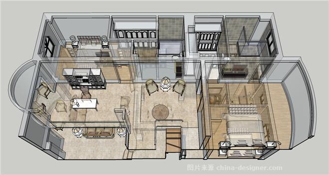 旌都苑-李小刚的设计师家园-卧室,餐厅,客厅,联排别墅