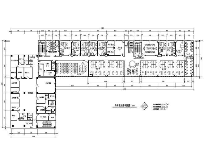 办公楼三层平面图