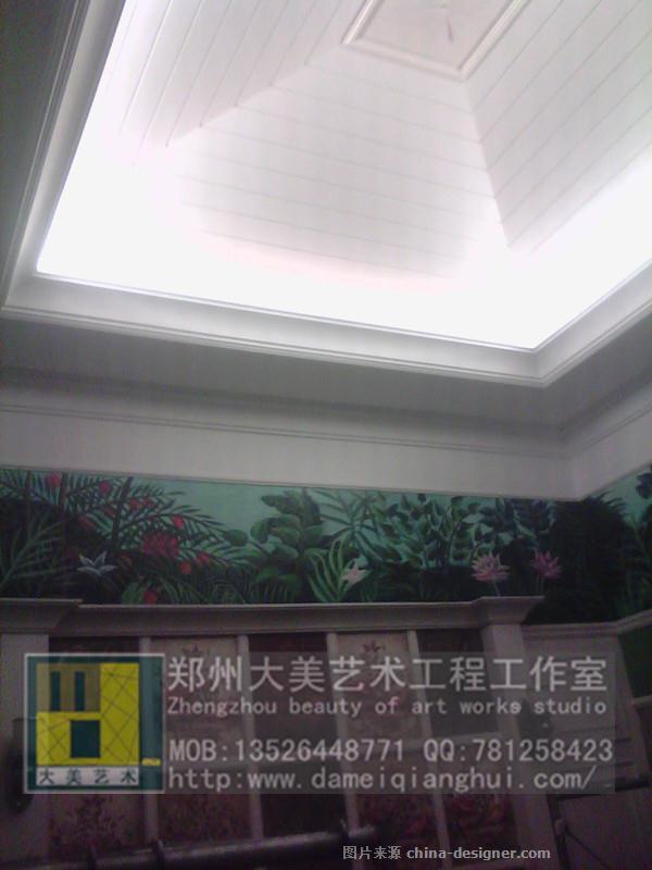 别墅风景墙体彩绘 大 郑州大美墙体彩绘艺术工作室的设计师家园 郑州大美墙体彩绘艺术工作室 建筑与室内设计师网
