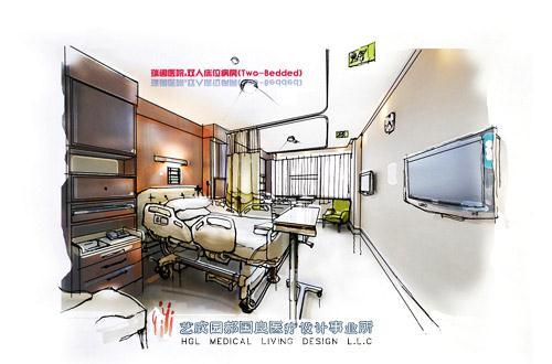 瑞阁医院私人病房TWO-BEDED设计-郝国良的设计师家园-医院设计
