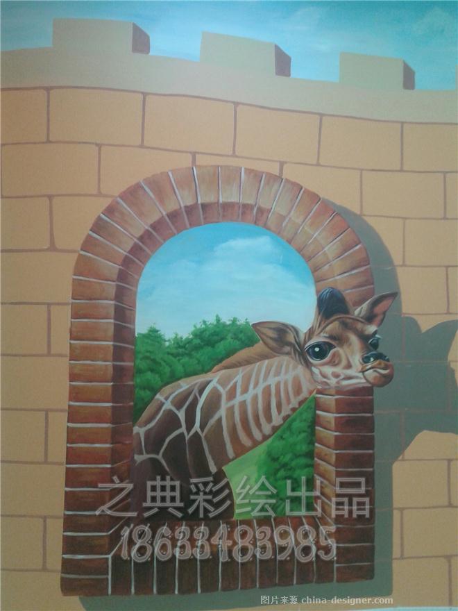墙体彩绘,手绘,3d立体画,海底卡通彩绘