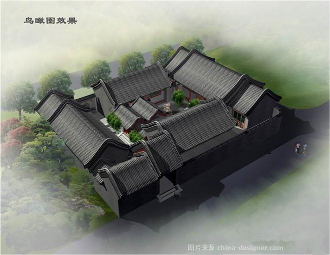 古典四合院设计图色彩鲜明-东方晨光-北京东方晨光装饰有限公司的设计