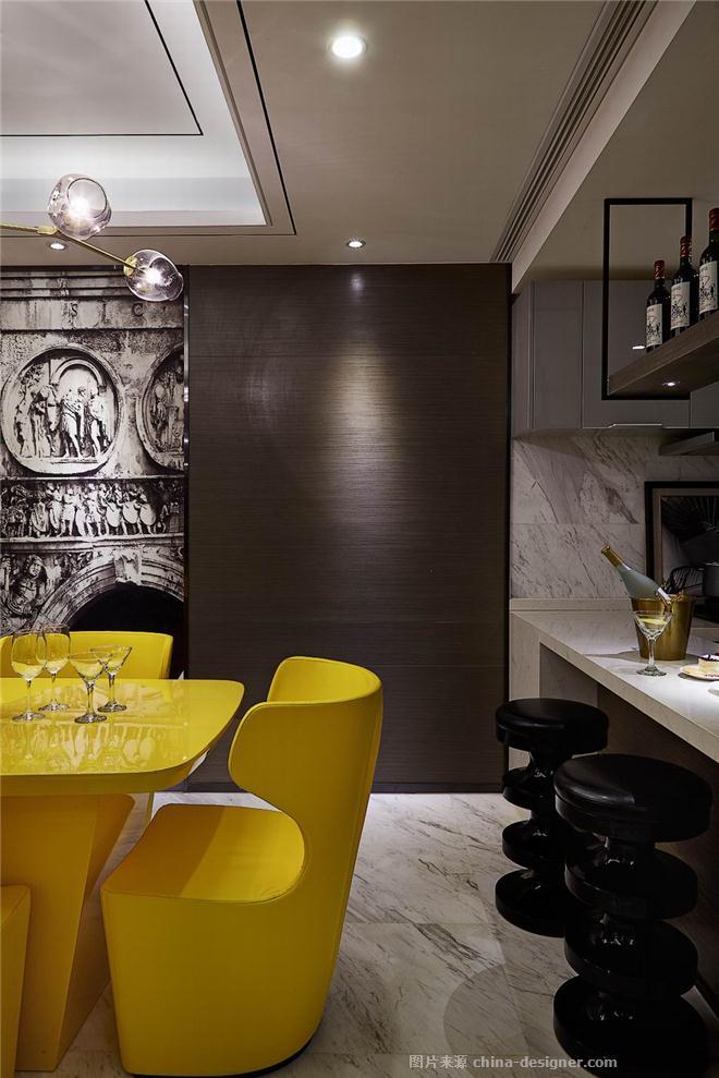 旭辉湖山原著样板间-罗马假日-孙洪涛的设计师家园-住宅样板间,现代简约,其他气氛,简约大气,青春活力,黄色,黑色,灰色,白色