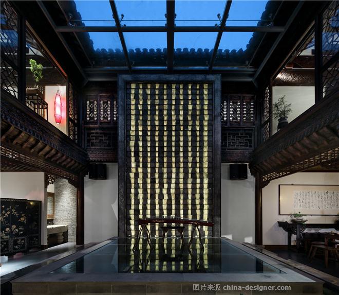 问柳菜馆-潘冉的设计师家园-百年老字号. 严肃的中国传统精神. 听雨看荷. 当地物料