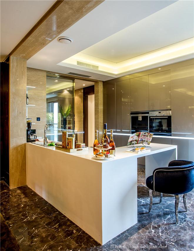 瀚海晴宇样板间-张巍的设计师家园-住宅样板间,新古典主义,白色,棕色