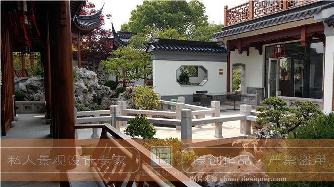 银湖花园沈总庭院业绩-李航的设计师家园-请选择,苏式庭院设计,景观设