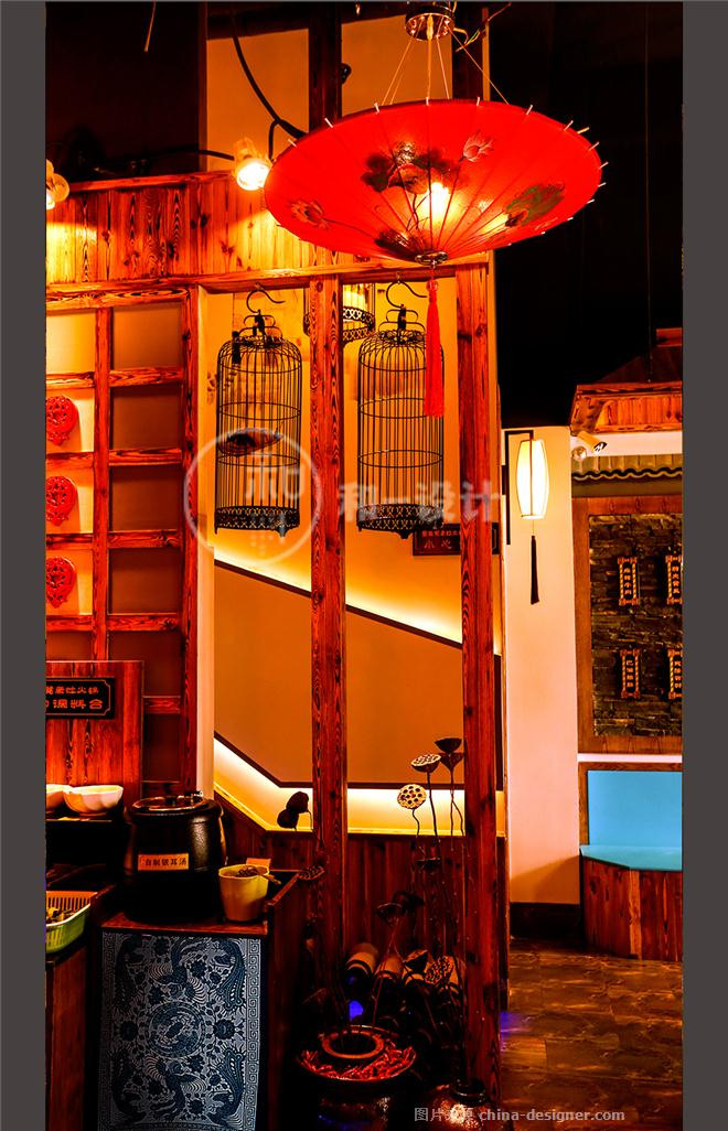 青岛-宽板凳老灶火锅(实景)-闫进伟的设计师家园-火锅店,中餐厅,传统中式,黄色,黑色,棕色,原生态,沉稳庄重,闲静轻松,紧凑灵活