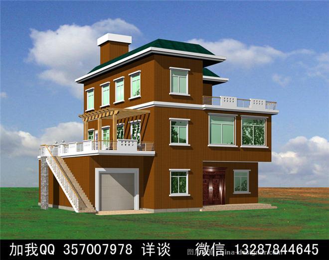 木结构别墅木屋设计案例效果图-室内设计师93的设计师家园-木屋 连栋