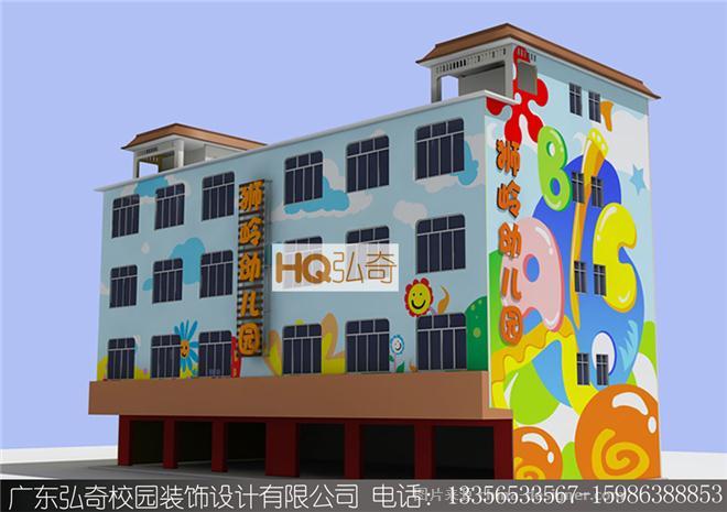 幼儿园设计图-弘奇校园装饰设计工程有限公司的设计师家园-幼儿园壁画