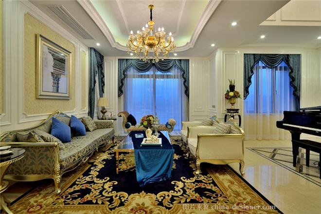 绿地徐州娇山湖别墅a3户型样板房-陈中祥的设计师家园-双拼,法式,奢华