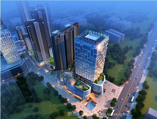 漯河世界贸易中心综合体设计-珠海空间印象建筑装饰设计有限公司的设计师家园-购物中心/商业综合体,现代简约,简约大气