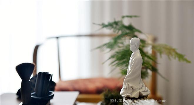<禅念>-陈志山的设计师家园-住宅样板间,新中式,简约大气,闲静轻松,白色,棕色