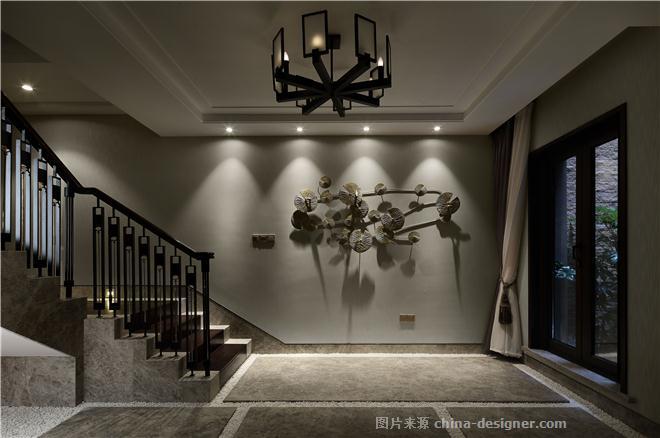 大宅平衡之美-张艳坪的设计师家园-联排,都会风格,闲静轻松,简约大气,沉稳庄重,灰色,棕色,橙色