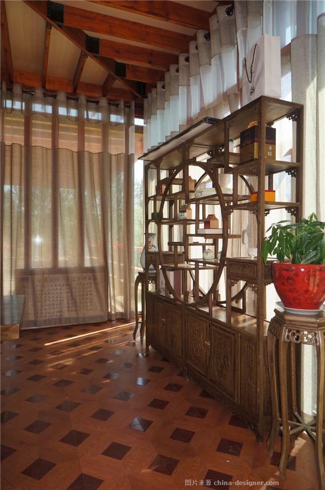 古典、现代与自然-张春鹏的设计师家园-独栋,新中式,闲静轻松,原生态,蓝色,绿色,棕色