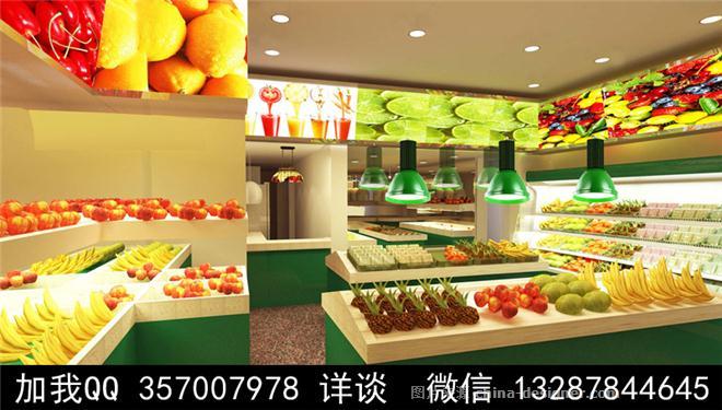 水果店设计案例效果图