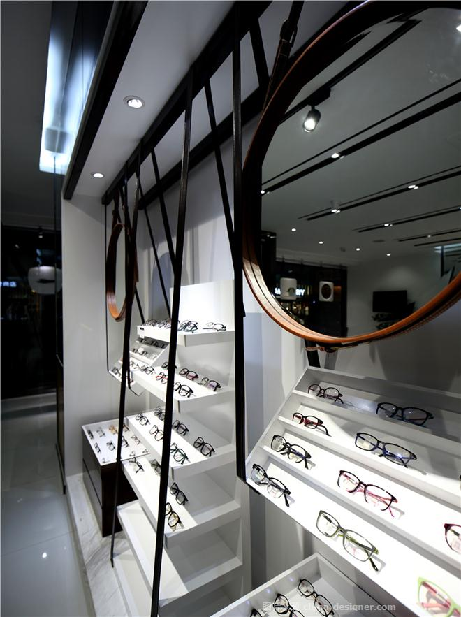 己目眼镜-王文凯的设计师家园-钟表眼镜店,现代简约,黑色,白色,原木色,原生态,简约大气