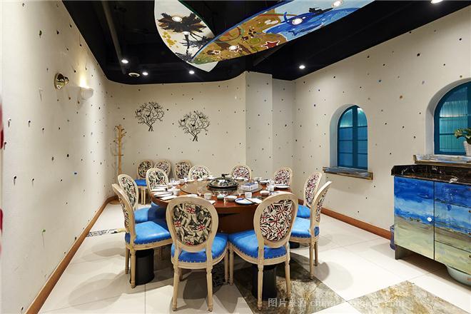 心仪蓝珊瑚蒸汽海鲜餐厅-倪泽的设计师家园-主题餐厅,混搭,其他气氛,白色