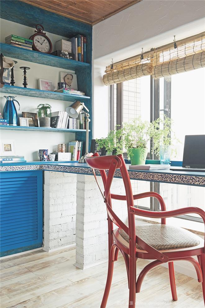 米岛的石头-荣烨的设计师家园-一居,地中海,青春活力,原生态,闲静轻松,其他颜色,蓝色,白色