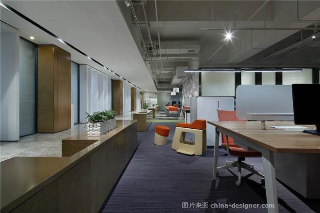 亚新集团总部办公-任杰的设计师家园-公共区,办公区,请选择,沉稳庄重,简约大气,橙色,白色