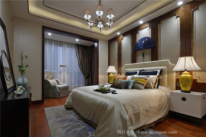 济源泉水湾样板房-谢金安的设计师家园-住宅样板间,新中式,东情西韵