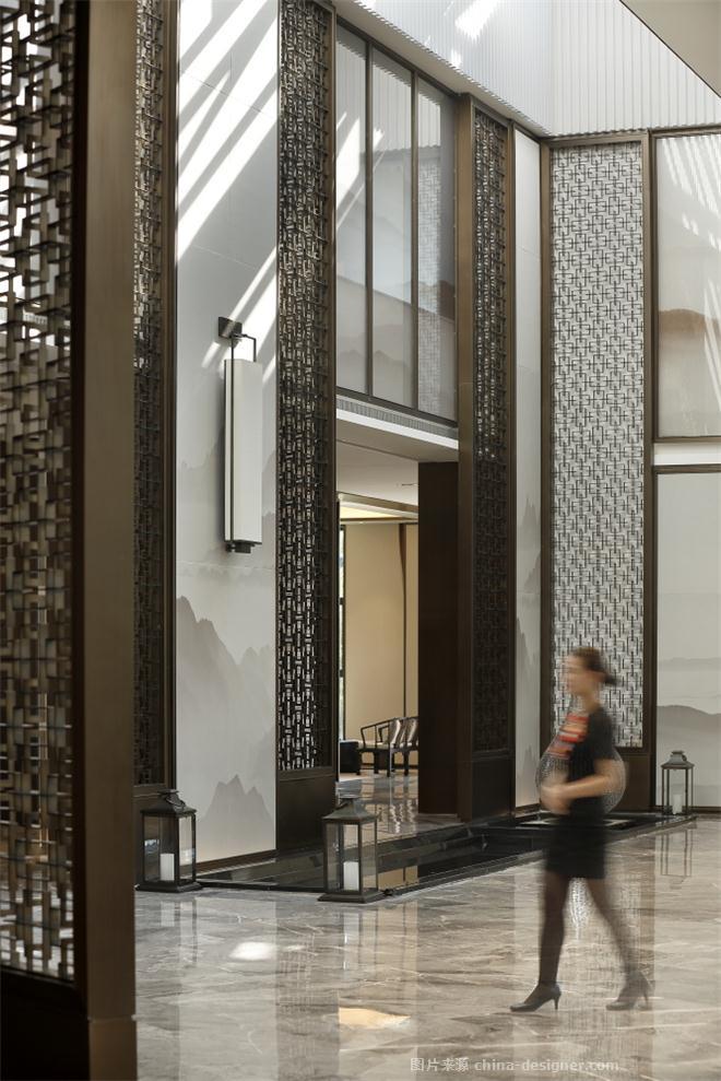 融创��府展示中心-秦丽的设计师家园-售楼处,新中式,城市山水、山水画