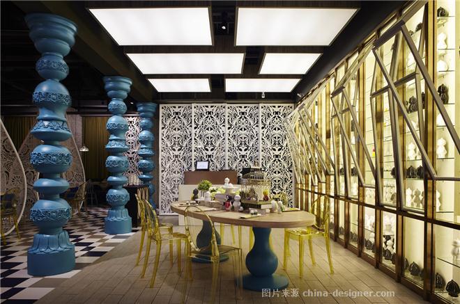 IN道理.印度印象餐厅-李军的设计师家园-异域餐厅,现代简约,奢华高贵,沉稳庄重,闲静轻松,蓝色,白色
