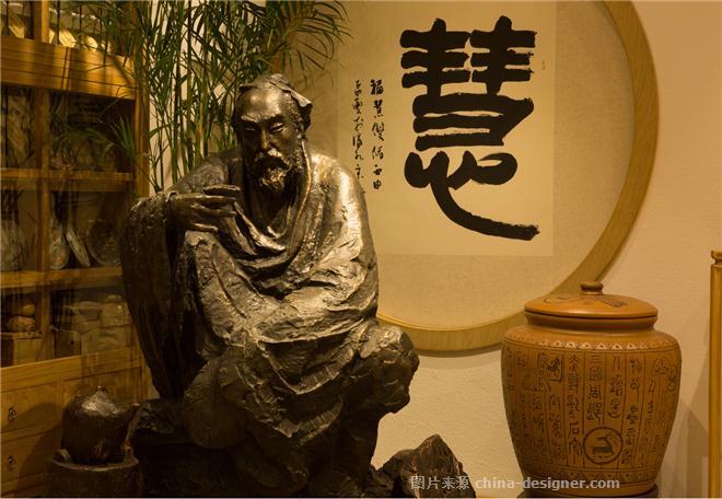 素为天(沈阳)禅商精舍-王霄的设计师家园-休闲会所,新中式,简约大气,黄色,白色