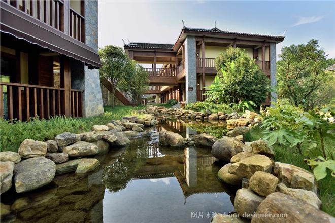 黄丝江边度假酒店-唐应强的设计师家园-商务酒店,传统中式,悠然见南山