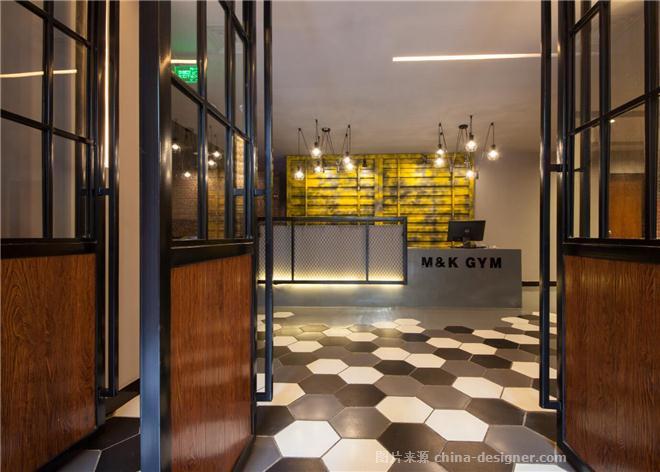 迈康国际健身会所-莫喻晴的设计师家园-健身会所,其他风格,青春活力,工业化,黄色,红色,灰色