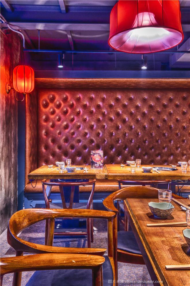 灯珑老派火锅-华翔的设计师家园-火锅店,混搭,黑色,绿色,红色