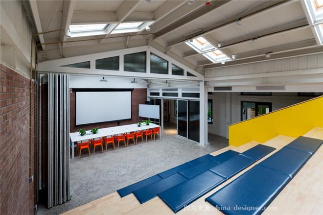 天津华惠安信建筑装饰设计研究院-王严的设计师家园-产业园区,办公区,现代简约,黄色,黑色,白色
