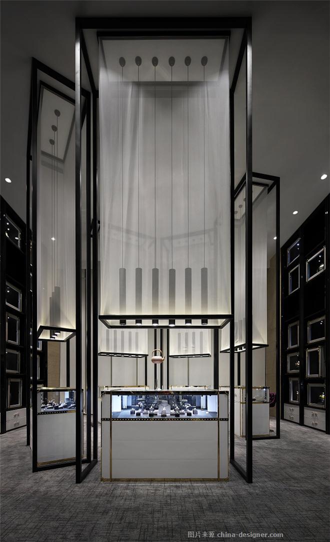 昆明港邑珠宝店(彩钻店)-赖伟成的设计师家园-珠宝店,新中式,奢华高贵,黑色,灰色