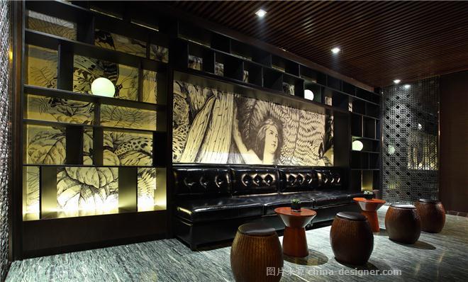 沈阳绿波廊永乐汇商务会馆-姜振东的设计师家园-洗浴中心,新中式,简约大气,沉稳庄重,闲静轻松,绿色,黑色,白色
