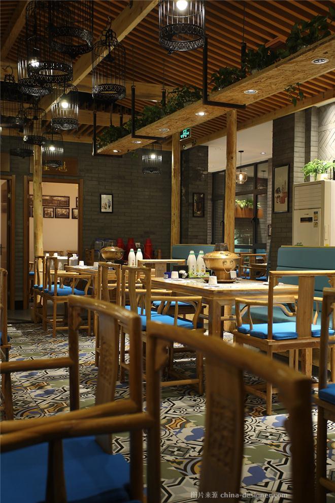 大同状元楼老火锅-张涛的设计师家园-新中式,闲静轻松,蓝色,棕色