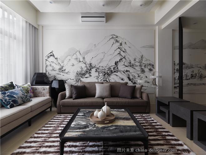 富?村?山居-�亲��的设计师家园-联排,新中式,奢华高贵,简约大气,沉稳庄重,其他颜色,黑色,白色