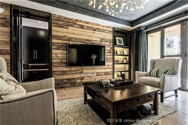 江与城蔚澜岸-张煜城的设计师家园-三居,其他风格,工业化,黑色
