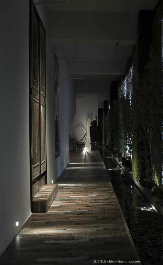 长沙诧寂-798装饰设计工程公司「禅茶文化馆」的设计师家园-办公区,现代简约,沉稳庄重