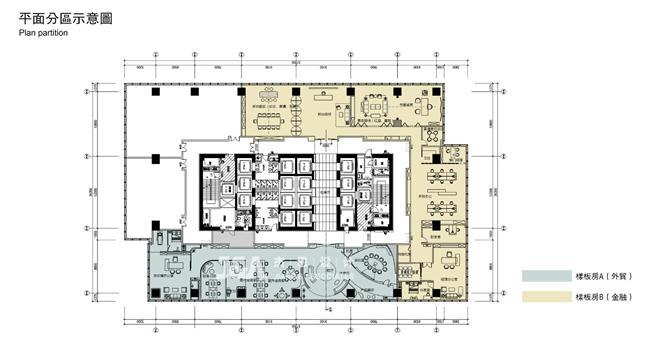 J&A办公样板间作品 绿城济南中心B户型-深圳市杰恩创意设计股份有限公司 的设计师家园-办公区,新中式,闲静轻松
