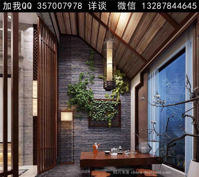 案例求职茶室效果图-室内设计师93的设计师家园-自助意愿,茶农家,餐厅本人设计餐厅室内设计图片