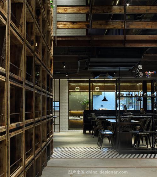 【餐饮空间设计】BONE烤肉店-珠海空间印象建筑装饰设计有限公司的设计师家园-火锅店,烧烤店,其他风格,烤肉店,餐厅设计,黑色,工业化