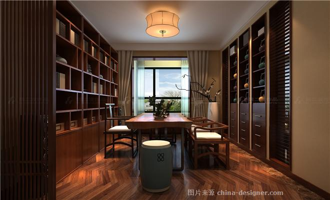 绿地卢浮206-魏二波的设计师家园-四居,新中式,闲静轻松,沉稳庄重,红色,黑色,白色
