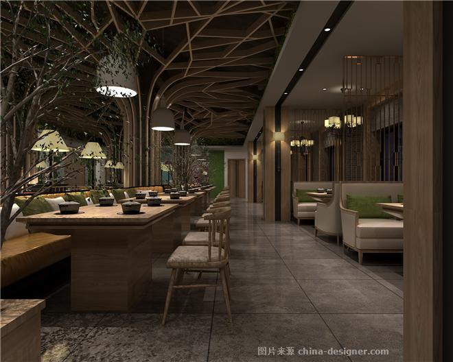 餐厅设计-顺风景庐肥牛火锅华阳店-阿森的设计师家园-火锅店,新中式