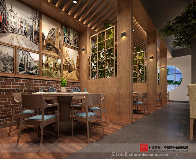 鄭州飯店裝修公司-濟源小飯店裝修效果圖-上海梵意設計鄭州公司的設計